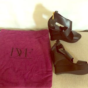 DVF Platform Wedge Sandals